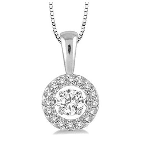 1/3 Ctw Diamond Motion Pendant in White Gold