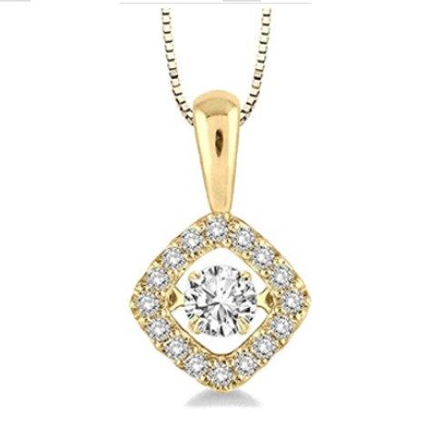 1/3 Ctw Diamond Motion Pendant in Yellow Gold