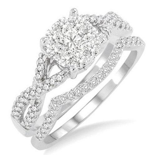 1/2 Ctw Diamond Lovebright Wedding Set