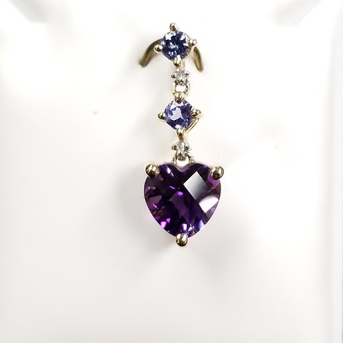 14k White Gold Tanzanite and Amethyst