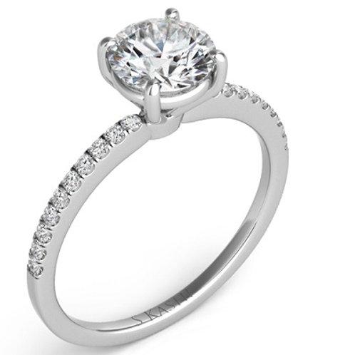 straight engagement ring