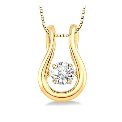1/5 Ctw Diamond Motion Pendant in Yellow Gold