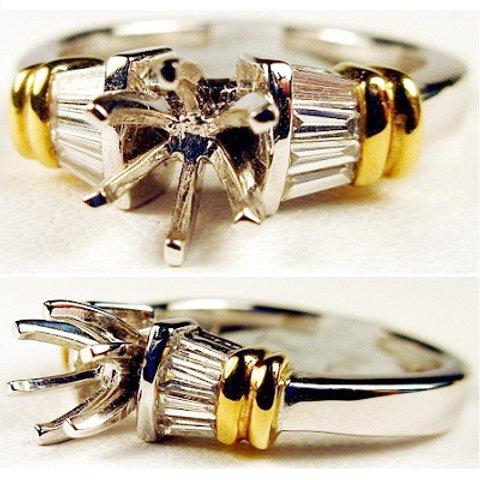 Platinum & Diamond Engagement Ring Mounting Platinum & Diamond Engagement Ring