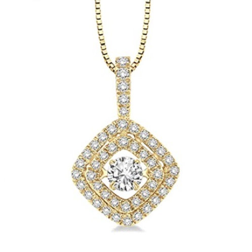 1/2 Ctw Diamond Motion Pendant in Yellow Gold