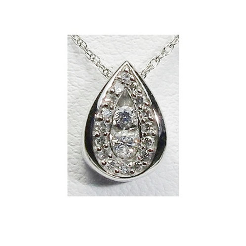 1/5 CTW Diamond Tear Drop Pendant