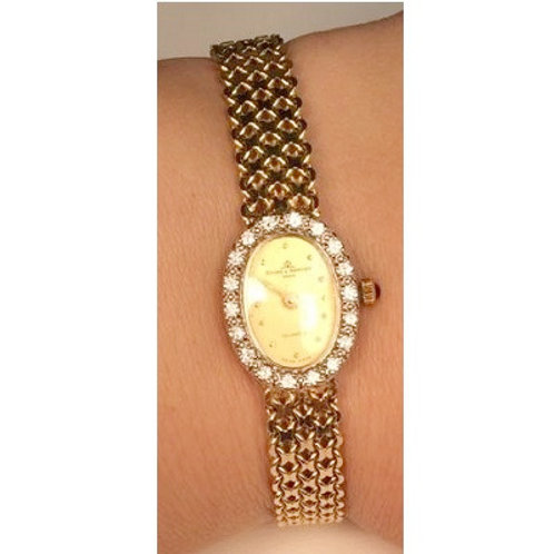 14K Yellow & White Gold & Diamond Baume & Mercier Ladies Watch