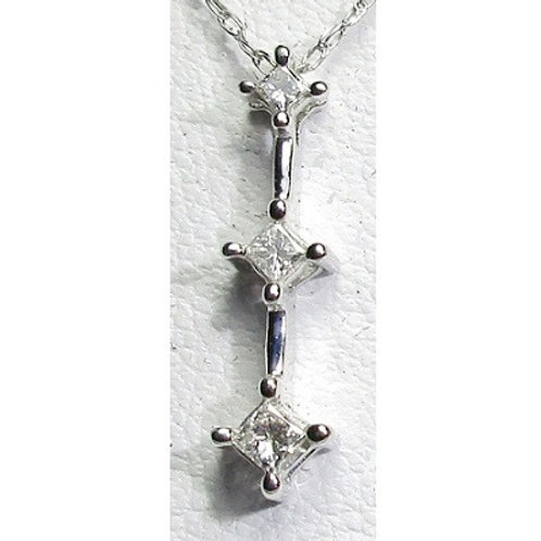 1/8 CTW Diamond 3-Stone Pendant