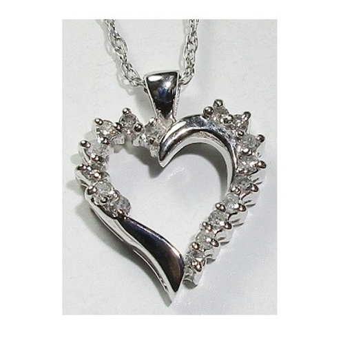 1/4 CTW Diamond Heart Pendant