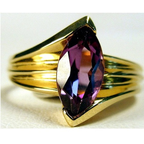 Marquise Shaped Amethyst Ring