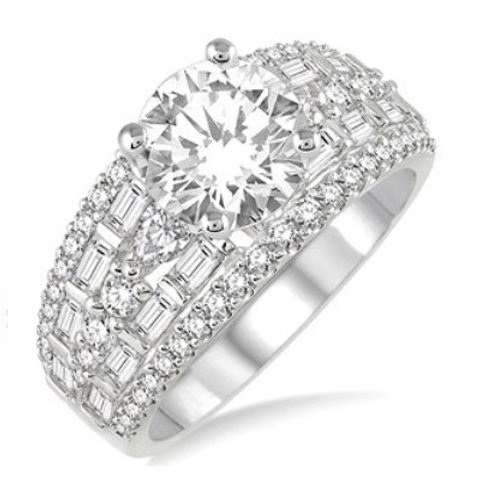 1 1/3 Ctw Diamond Semi-mount Ring