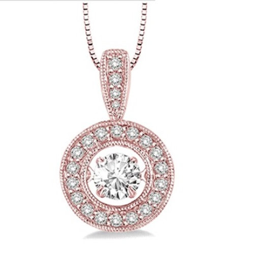 1/3 Ctw Diamond Motion Pendant in Rose Gold