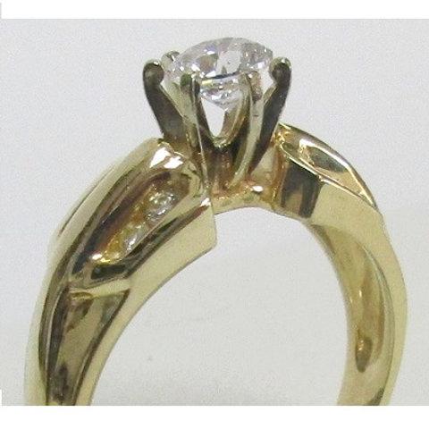 14K Yellow Gold & Diamond Engagement Ring Mounting