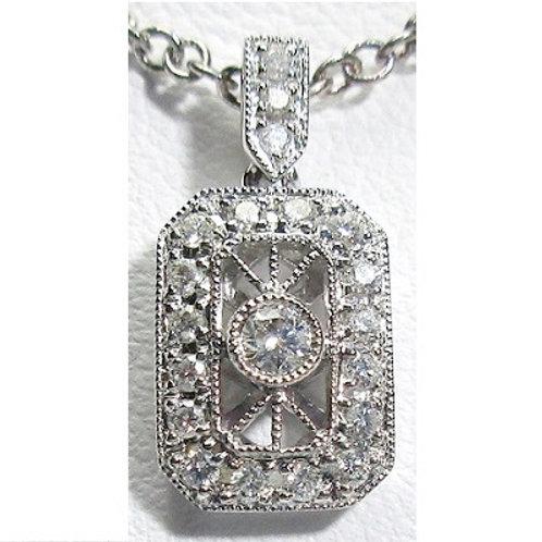 1/5 CTW Diamond Vintage Pendant