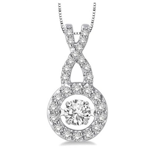 3/8 Ctw Diamond Motion Pendant in White Gold
