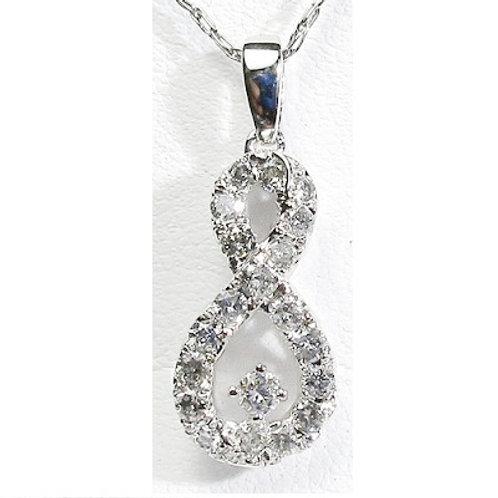 3/8 CTW Diamond Infinity Pendant
