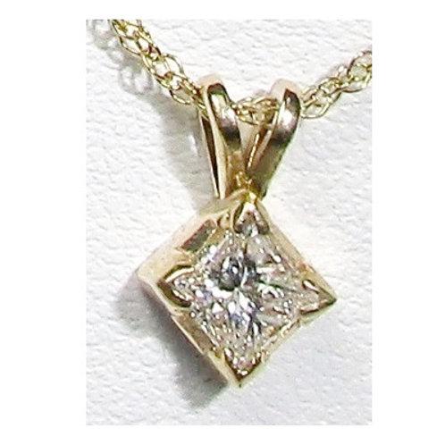 3/8 CTW Diamond Solitaire Pendant
