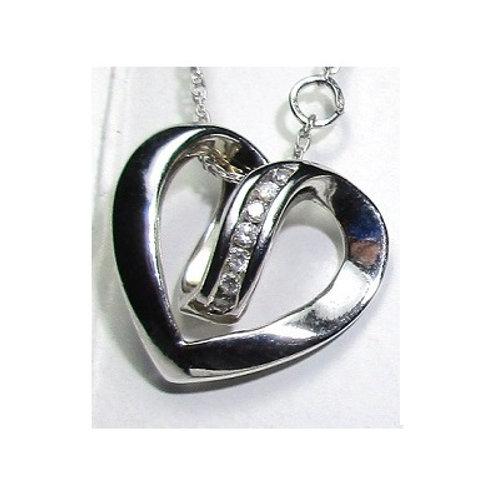 1/4 CTW Diamond Heart Pendant
