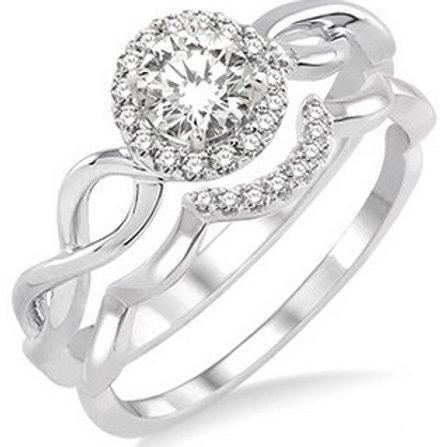 3/8 Ctw Diamond Wedding Set