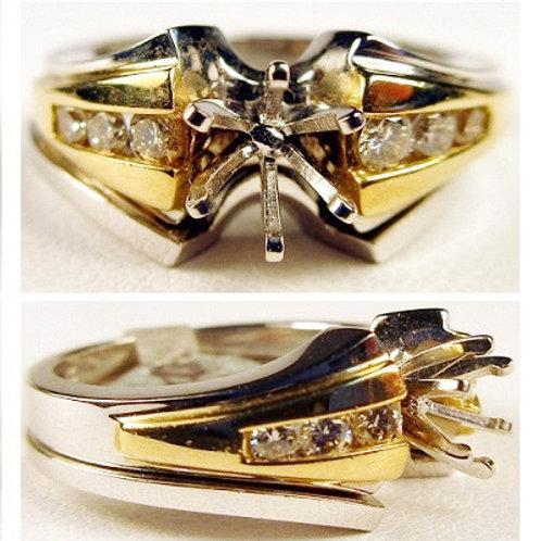 14K Two-Tone Gold & Diamond Wedding Set