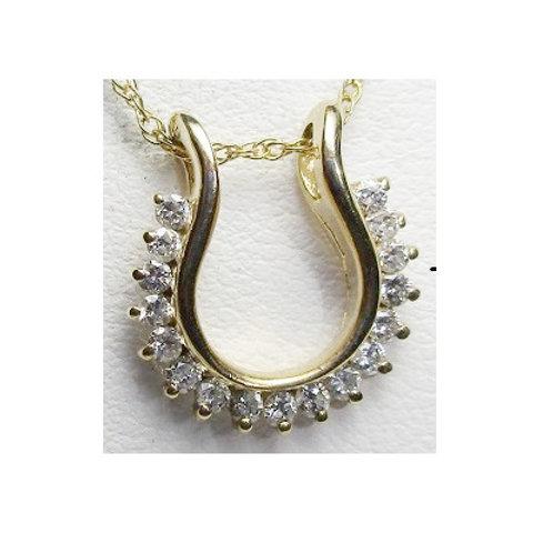 1/3 CTW Diamond Horseshoe Pendant