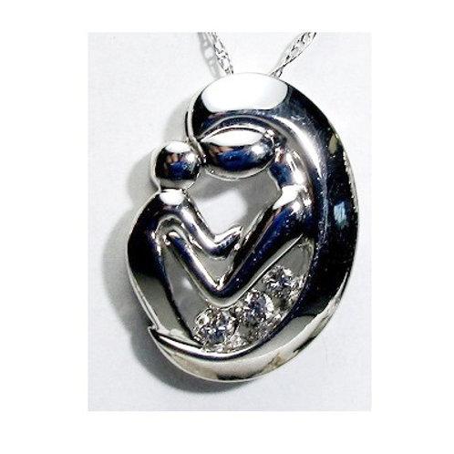 Diamond Mother & Child Pendant