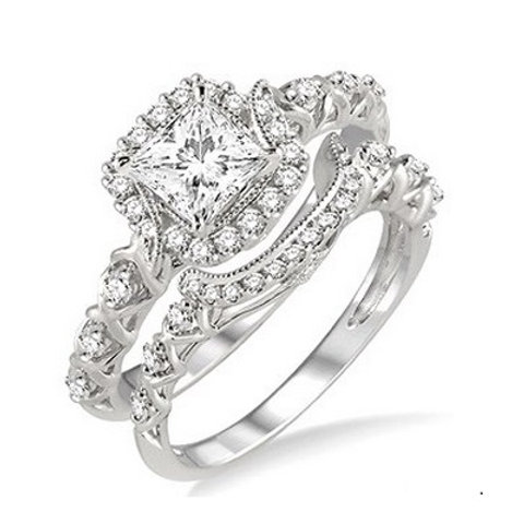 5/8 Ctw Diamond Wedding Set