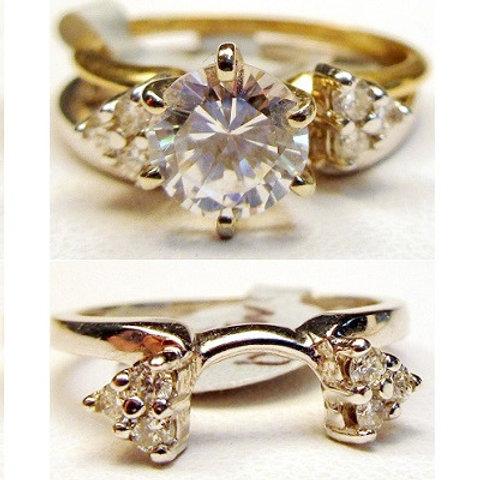 14K White Gold & Diamond Wrap