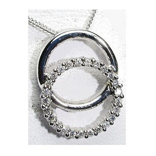 1/4 CTW Double Circle of Life Pendant