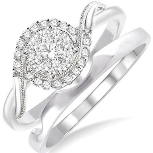 1/3 Ctw Diamond Lovebright Wedding Set