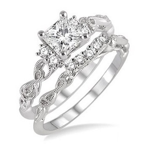 1/2 Ctw Diamond Wedding Set
