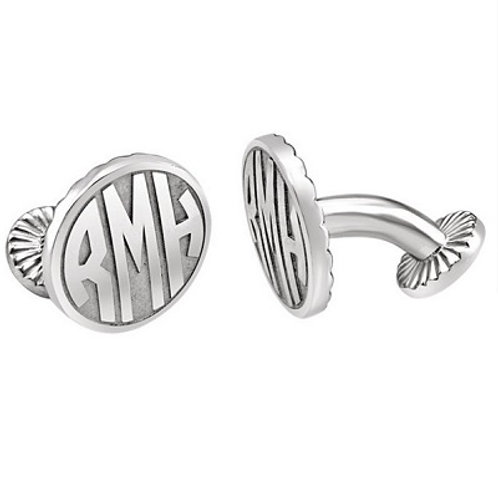 16.5mm 3-Letter Block Monogram Cufflinks