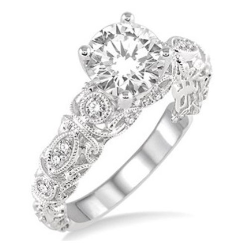 1/5 Ctw Diamond Semi-mount Ring