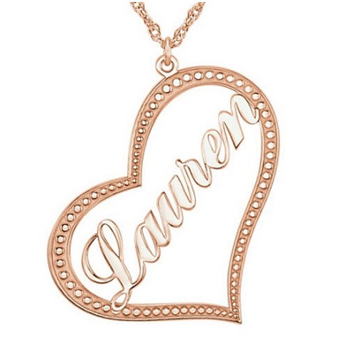 10k Nameplate Heart Necklace