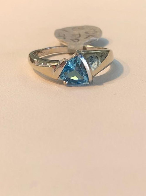 Sky Blue Topaz Trillion Solitaire