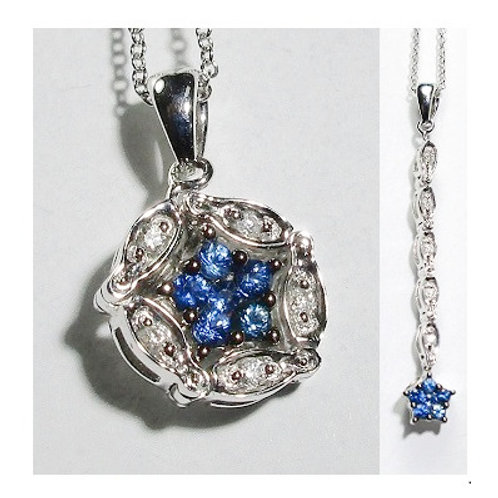 2-In-1 Diamond & Sapphire Necklace