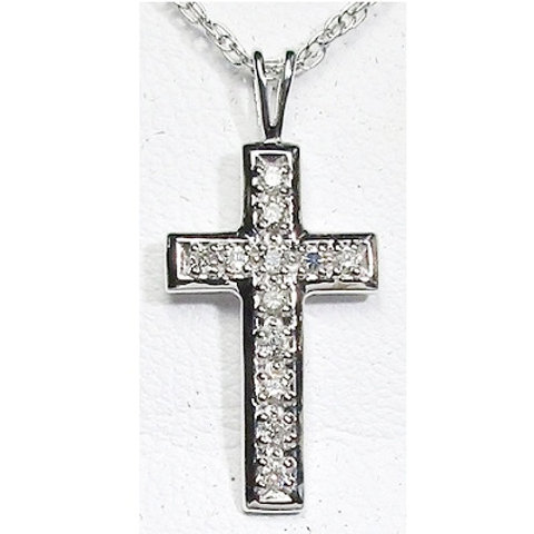 1/8 CTW Diamond Cross Pendant