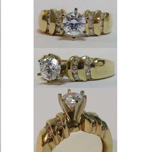 14K Yellow Gold Engagement Ring Mounting