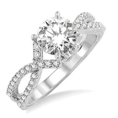 1/3 Ctw Diamond Semi-Mount Ring