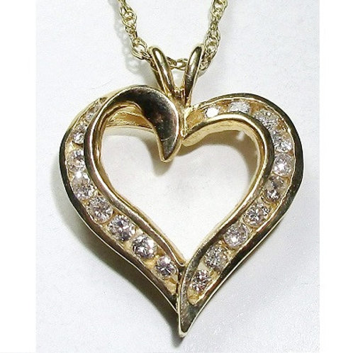 5/8 CTW Diamond Heart Pendant