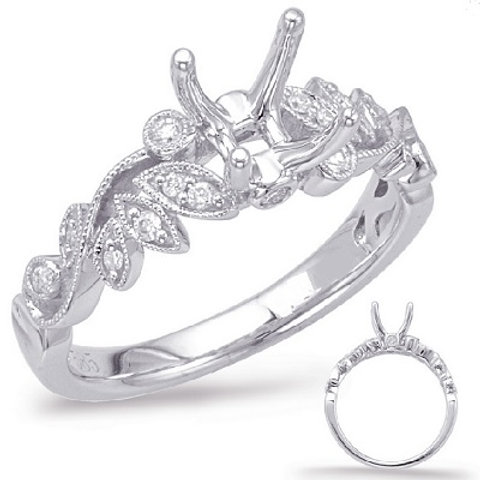 0.15 ctw. WHITE GOLD ENGAGEMENT RING