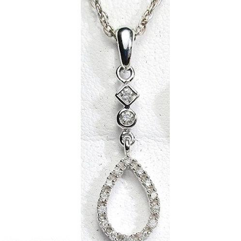 1/6 CTW Diamond Drop Pendant