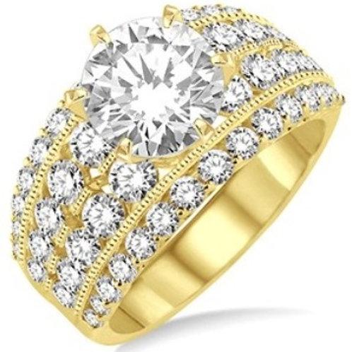 2 1/10 Ctw Diamond Semi-mount Ring