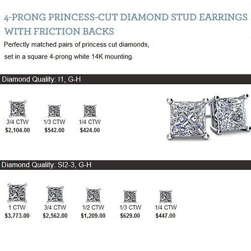 Princess Stud Earring selection