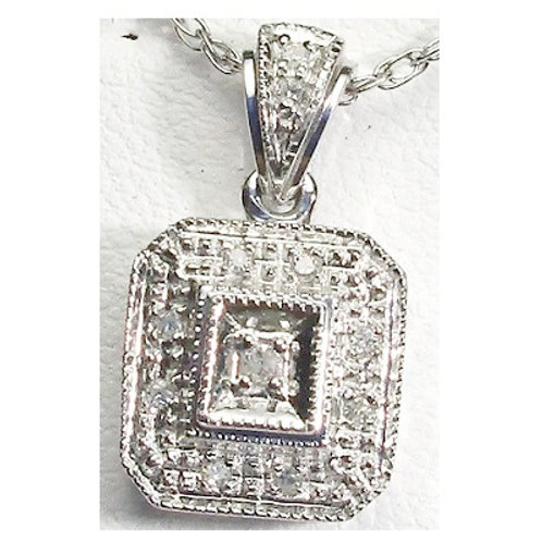 Vintage Diamond Halo Pendant