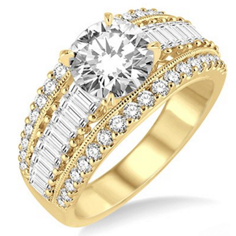 1 1/3 Ctw Diamond Semi-mount Ring