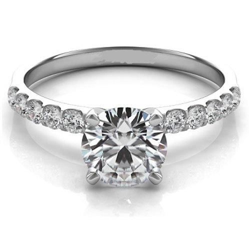 0.30 ctw. WHITE GOLD ENGAGEMENT RING