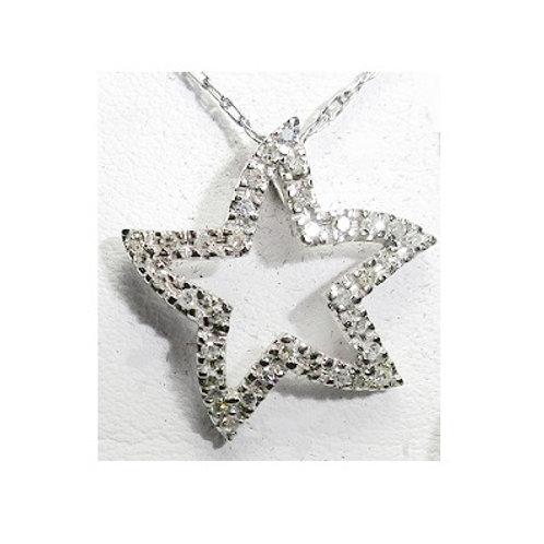1/10 CTW Diamond Star Pendant
