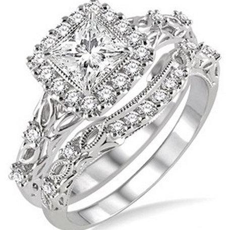 3/4 Ctw Diamond Wedding Set