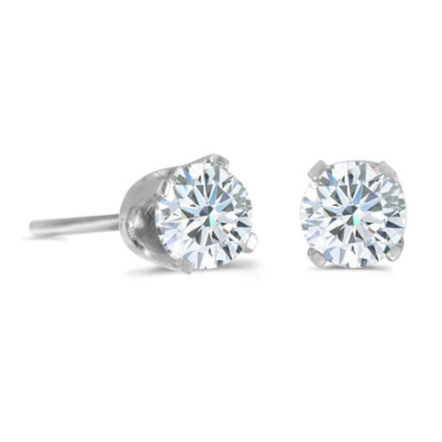 14K White Gold .40ct Diamond Stud Earrings