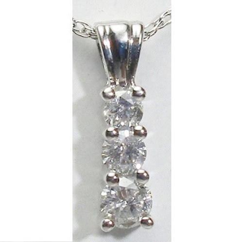 1/2 CTW Diamond 3-Stone Pendant